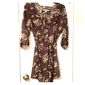 Lauren Conrad gray floral dress